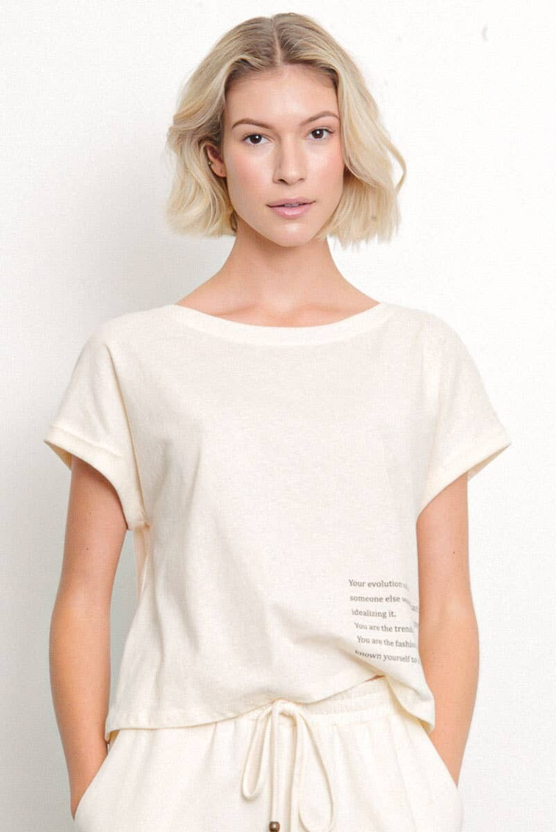 Cotton Graphic Top