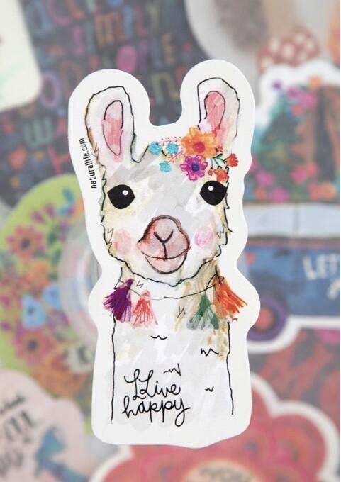 Llive Happy Llama Sticker