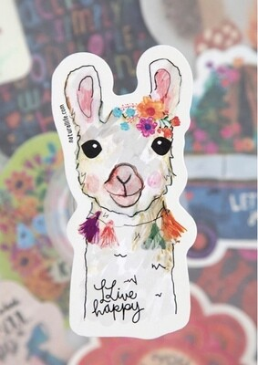 Llive Happy Llama Sticker