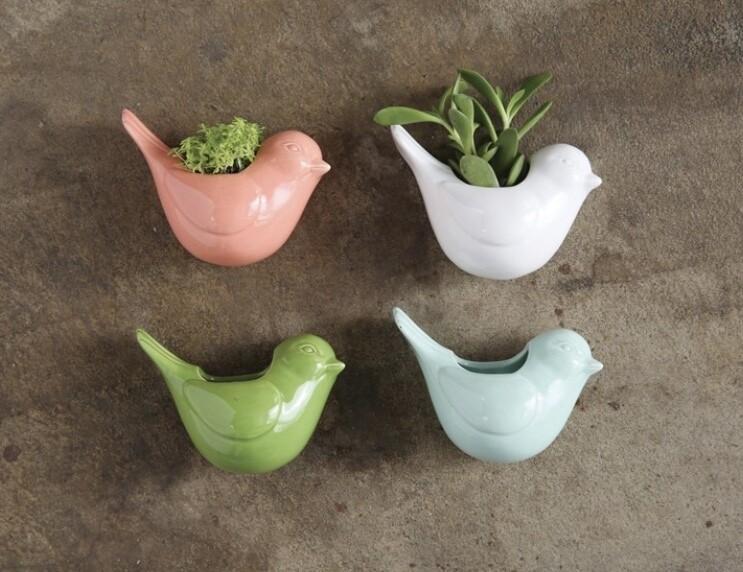 Stoneware Bird Vase