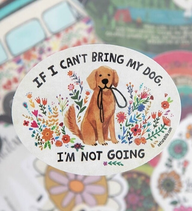 Cant Bring Dog Sticker