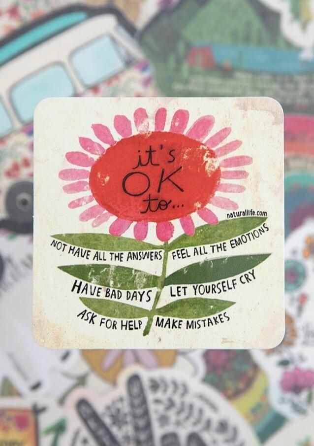 Its Okay Sticker