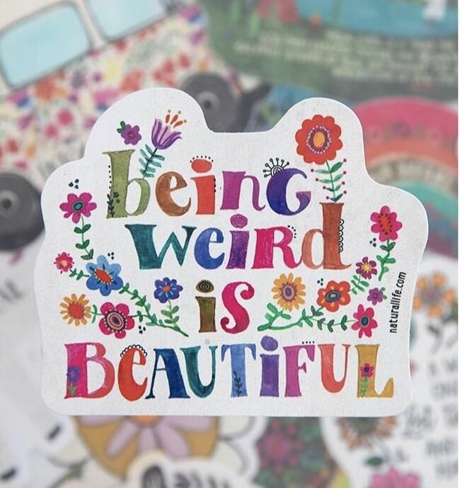 Being Weird Sticker