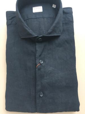 Leinen Hemd Schwarz Xacus