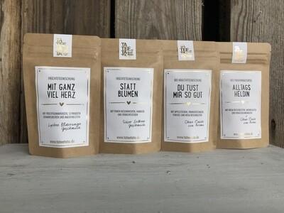 herrliche Tee-Mischung in Probiergrösse - wunderbar zum Verschenken