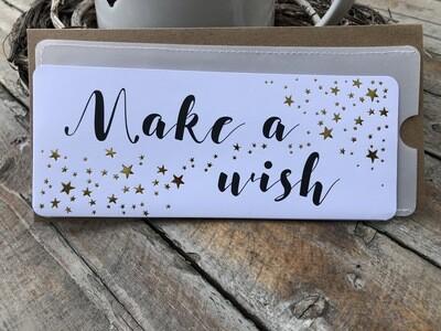 *make a wish* Karte, und 2 Couverts