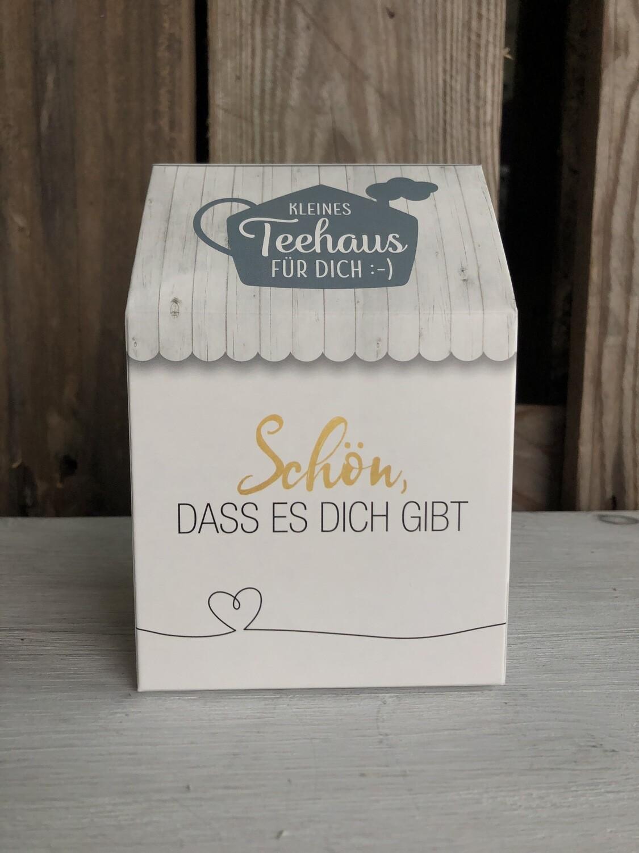"""Geschenkverpackung Tee """"schön, dass es Dich gibt"""""""