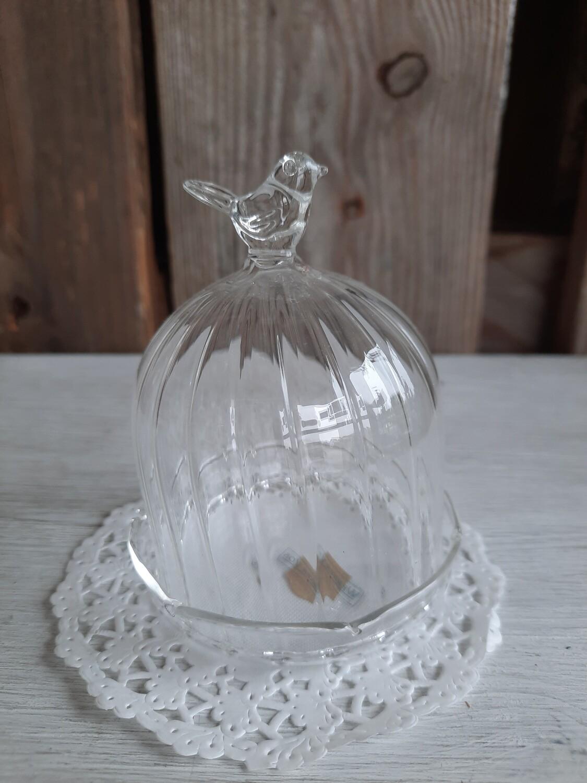 2-tlg Glas mit Vögeli