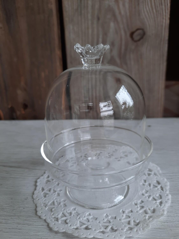 2-tlg. aus Glas - Krone -