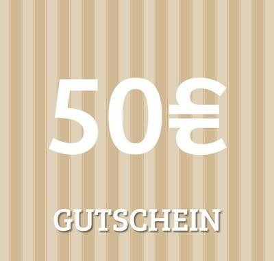 Gutschein 50 €