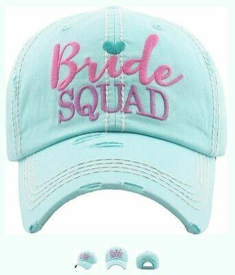 Bride Squad Bachelorette Distressed Trucker Baseball Hat