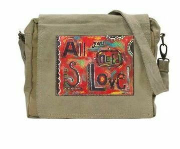 All You Need Is Love Tent Cross body/Laptop Bag