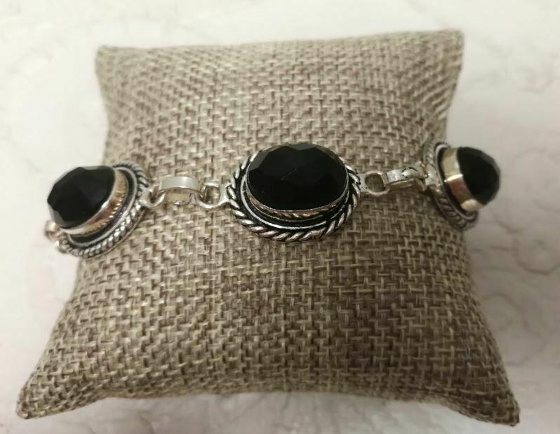Black Onyx Sterling Silver Bracelet