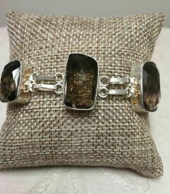 Smoky Topaz Sterling Silver Bracelet