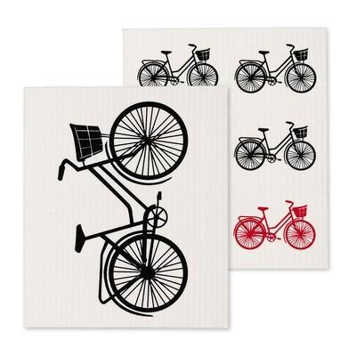 Bicycle Dish Cloth Set of 2