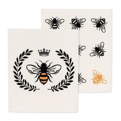 Bee Swedish Dishcloth