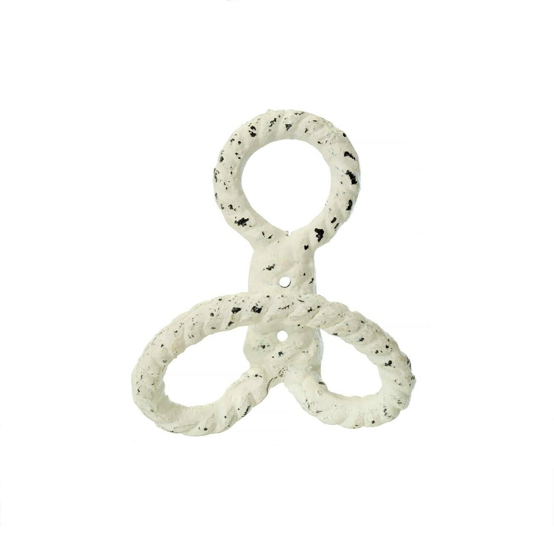 White Nautical Knot Hook