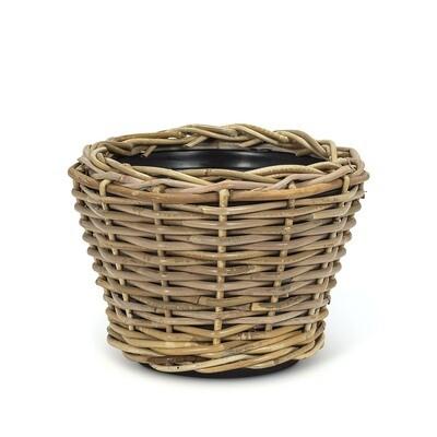 Round Woven Planter