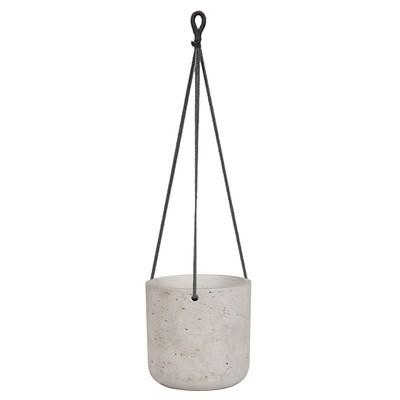 Medium Grey Hanging Planter