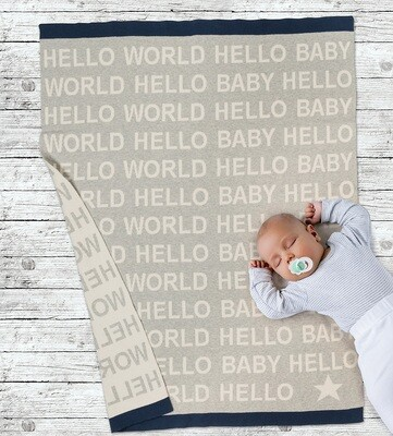 Hello Baby Throw Blanket