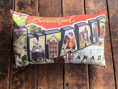 Ontario Postcard Pillow