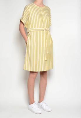 PAN ~ Chartreuse Stripe Dress