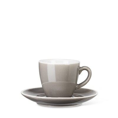 Grey Espresso Cup and Saucer
