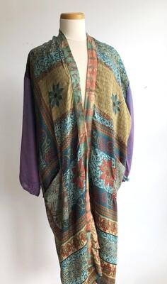 Upcycled Sari Robe ~ Heather