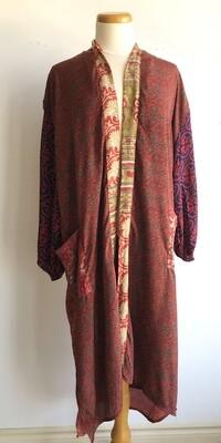 Upcycled Sari Robe ~ Sarah