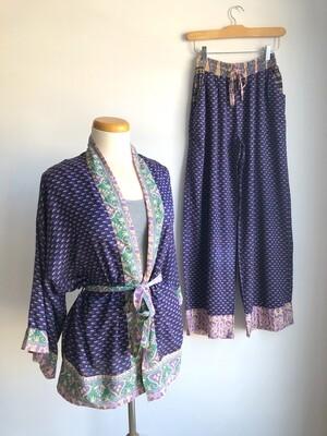 Upcycled Sari PJ Set ~ Maggie