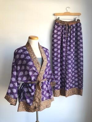Upcycled Sari PJ Set ~ Julie