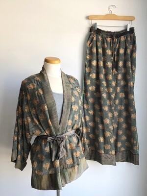 Upcycled Sari PJ Set ~ Laureen