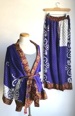 Upcycled Sari PJ Set ~ Lucy