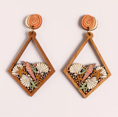 Rylee & Ink ~ Seashell Statement Earrings