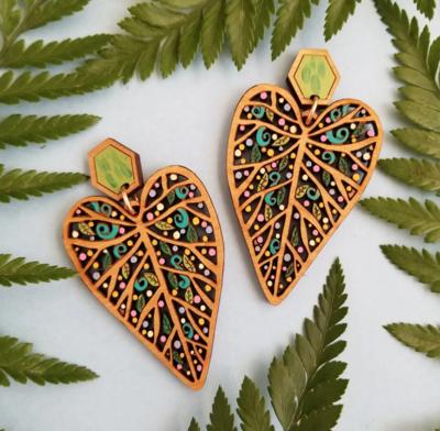 Leaf Statement Earrings