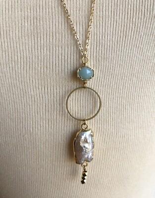 FRUG pearl and semi-precious stone necklace
