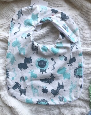 Moxie & Zab - Take Me to Lunch Bib ~ Turquoise Animals