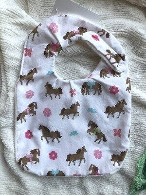 Moxie & Zab - Take Me to Lunch Bib ~ Horses