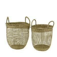 WICKER  BASKETS - Set of 2