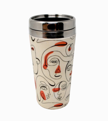 Abstract Faces Takeout Coffee Mug