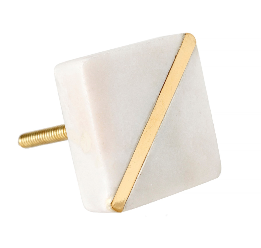 Marble Guilded Knob