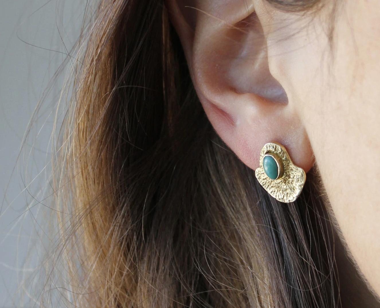 Bauxo ~ Scene Brass Earrings