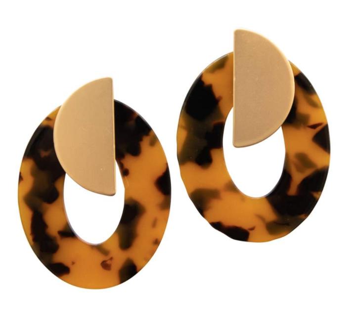 Michelle McDowell ~ Tortoise Earrings