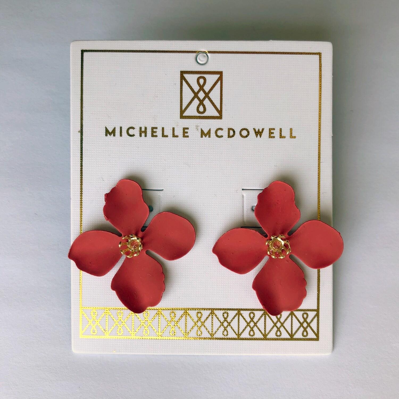 Michelle McDowell ~ Red Bloom Earrings