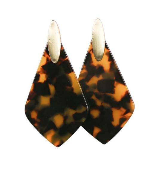 Michelle McDowell ~ Cheetah Tear Drop Earrings