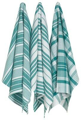 Jumbo Tea Towels Set of 3 Peacock