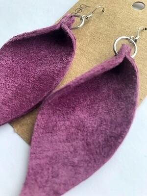 Bee and Sallie ~ Purple Petal Earrings