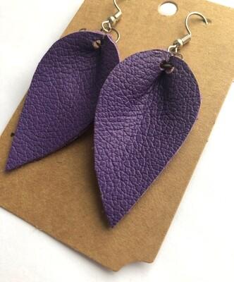 Bee and Sallie ~ Bright Purple Petal Earrings