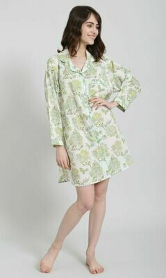 Green Floral Nightshirt
