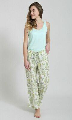 PJ Pants-in-a-Bag ~ Green Floral